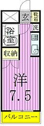 ロザール松戸[402号室]の間取り