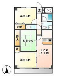 エトワール千代田[3階]の間取り