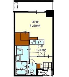 沖縄都市モノレール おもろまち駅 徒歩7分の賃貸アパート 3階1Kの間取り
