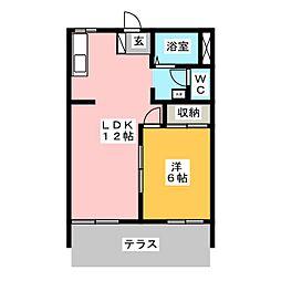 ストークス藤狭[1階]の間取り