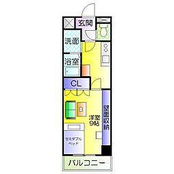 ベルコート浜寺石津[1階]の間取り