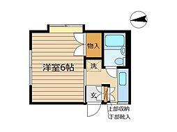 東京都港区高輪1丁目の賃貸アパートの間取り