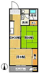 富岡マンション[0103号室]の間取り