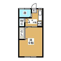 すずらん荘[2階]の間取り