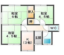 [一戸建] 愛媛県宇和島市寄松 の賃貸【/】の間取り