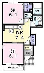 ハローガーデンハウス[101号室]の間取り