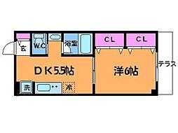 東京都三鷹市中原2丁目の賃貸マンションの間取り