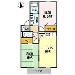セジュールBON[1階]の間取り