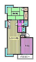 ツインハイツ元町[3階]の間取り