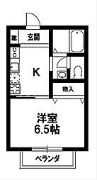 ハイツウイング小野山[1階]の間取り