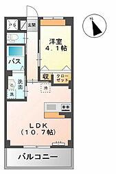 鳥取県鳥取市南安長2丁目の賃貸マンションの間取り