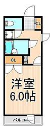 ジュネスシマムラ[401号室]の間取り