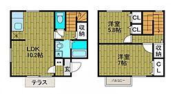 [テラスハウス] 東京都町田市金井7丁目 の賃貸【/】の間取り