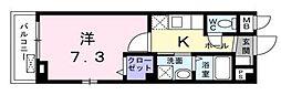 Osaka Metro千日前線 野田阪神駅 徒歩9分の賃貸マンション 3階1Kの間取り