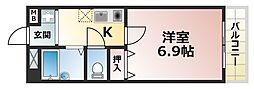 ウェーブ桜ヶ丘[2階]の間取り