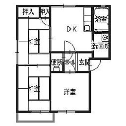 ラ・フロール浜寺A棟[2階]の間取り