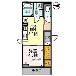 JYOHOKU欅STREET[1階]の間取り