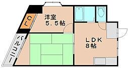 第2元木ビル[2階]の間取り