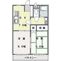 上ノ台Nスカイ[2階]の間取り