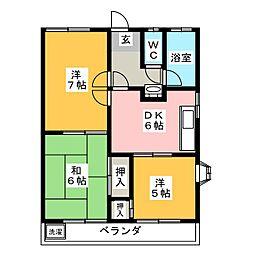 ホームピュア[1階]の間取り