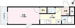 ファミール田中[1階]の間取り