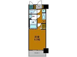 プレサンスOSAKADOMECITYスクエア 2階1Kの間取り