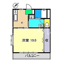 アバイド[3階]の間取り