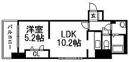 KW Place北5条(旧イアラ)[8階]の間取り
