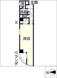 レインボー高蔵[5階]の間取り