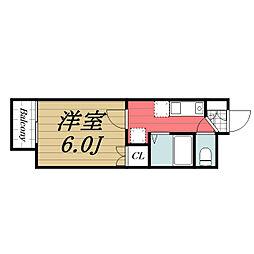千葉県千葉市若葉区都賀5丁目の賃貸アパートの間取り