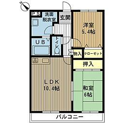 新潟県新潟市西区小新南1丁目の賃貸マンションの間取り