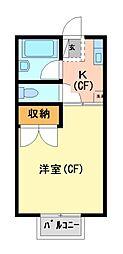 岩田ハイツII[1階]の間取り