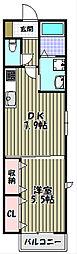 大阪府堺市堺区中田出井町3丁の賃貸アパートの間取り