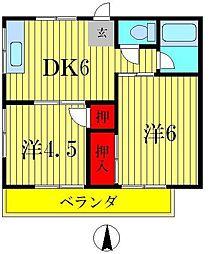 コーポ作台[2階]の間取り