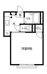 ジョイアス2[3階]の間取り