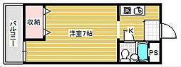ポワール御崎[2階]の間取り