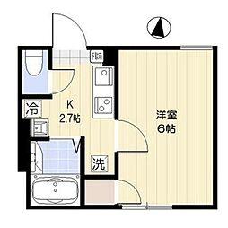 都営三田線 西巣鴨駅 徒歩7分の賃貸マンション 1階1Kの間取り