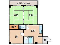 中尾ビル[2階]の間取り