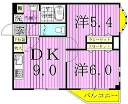 健蔵[302号室]の間取り