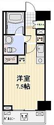 プロスペクト日本橋本町 10階ワンルームの間取り