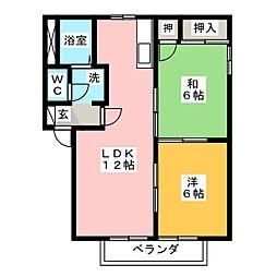 ル・レーヴ B棟[1階]の間取り