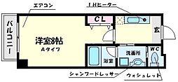 ハイムタケダ12 1階1Kの間取り