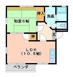 コーポ舞[2階]の間取り