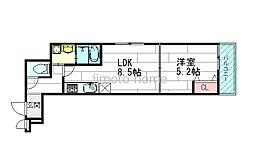 くすのきアパートメント1[1階]の間取り