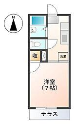 プチメゾン新宮[1階]の間取り