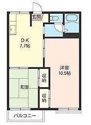 埼玉県さいたま市緑区東浦和7丁目の賃貸アパートの間取り