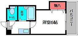 シンパシー京橋[8階]の間取り