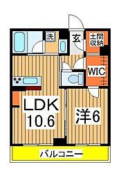 仮)柏の葉キャンパスシャーメゾン 1階1LDKの間取り