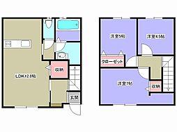 [テラスハウス] 兵庫県姫路市広畑区小坂 の賃貸【/】の間取り