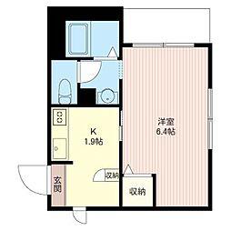O.flats[1階]の間取り